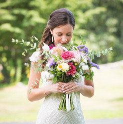 Hand tied farm bridal bouquet