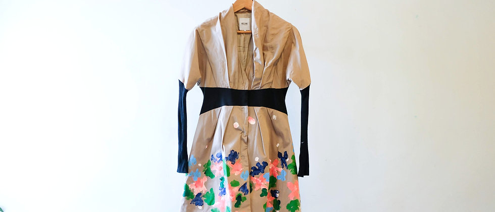 Dark Beige Floral Print Jacket