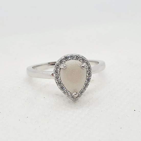 The Teardrop Sparkle Inclusion Ring
