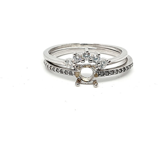 Tiny sparkle Inclusion stacker Ring (Sizes P)