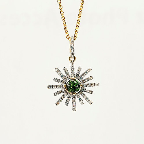 The Sunburst Inclusion Pendant (yellow,rose or white gold)