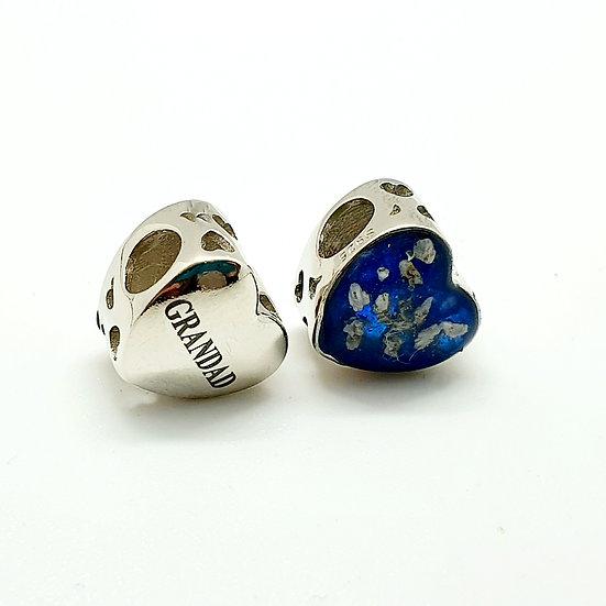 The Engraved Heart Charm Bracelet Bead