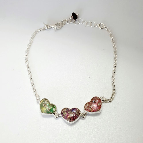 The Three Hearts Inclusion Bracelet