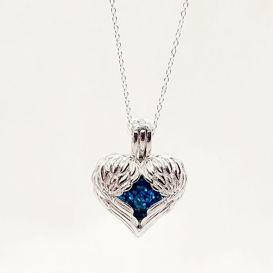 The Angel Wings Bead Cage Inclusion Pendant