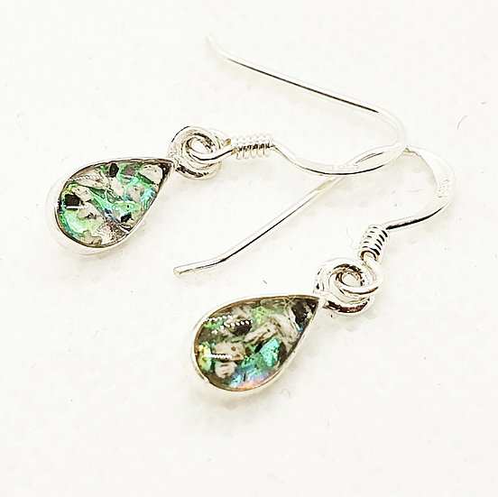 The Teardrop droplets Inclusion Earrings