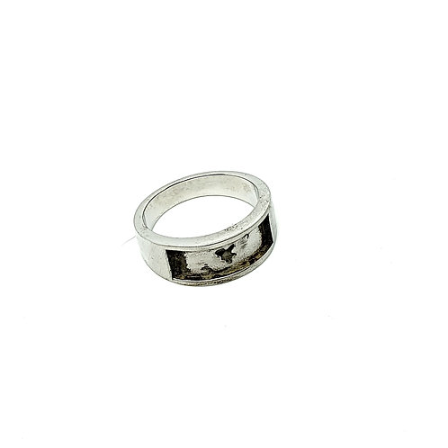 Chunky Half channel steel Inclusion Ring (Sizes S)