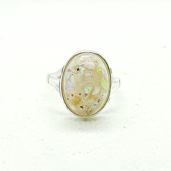 The 9ct Yellow Gold Gaia Inclusion Ring