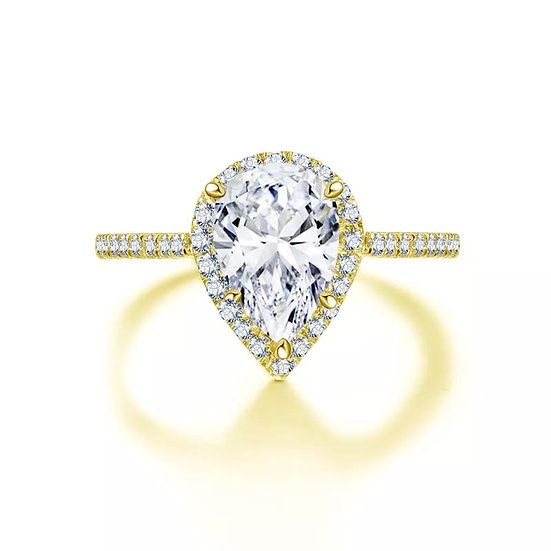 The Golden Teardrop Inclusion Ring (yellow or white gold)