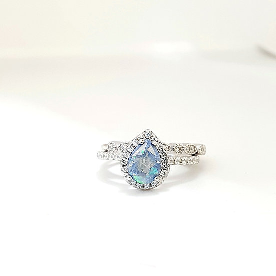The Cassandra Teardrop Stacker Inclusion Ring