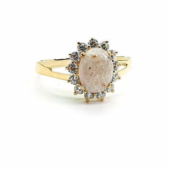 The Gold Stargazer Ring (yellow/rose/white)