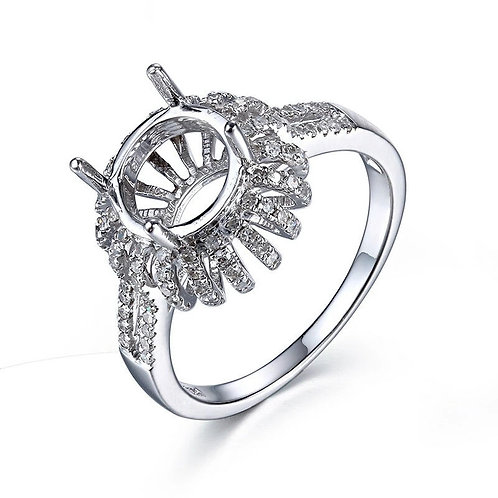 The Rose Inclusion Ring (yellow, rose or white gold)