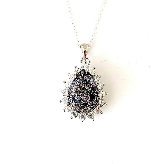 The Droplet of Sparkles Inclusion Pendant