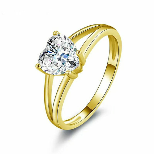 The Golden Sweetheart Inclusion Ring (yellow or white gold)