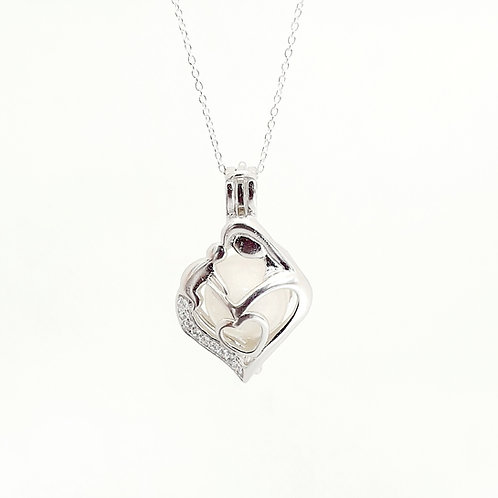 The Mama Sparkle Bead Cage Inclusion Pendant