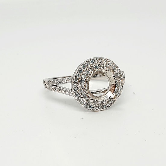 8mm round sparkle Inclusion  Ring (Sizes R)
