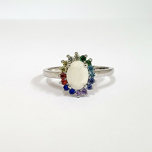 The Rainbow Sparkle Inclusion Ring