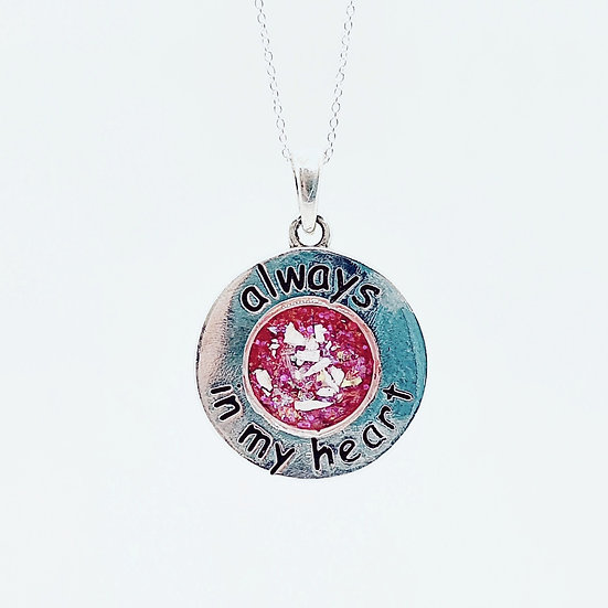 Always in my heart Inclusion Pendant