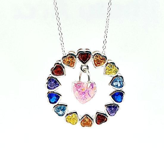 The Rainbow Heart Inclusion Pendant