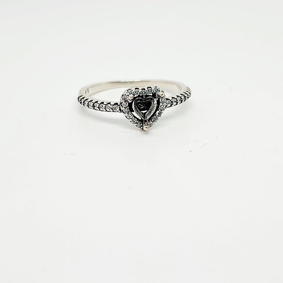 Tiny heart sparkle Inclusion Ring (Sizes R)
