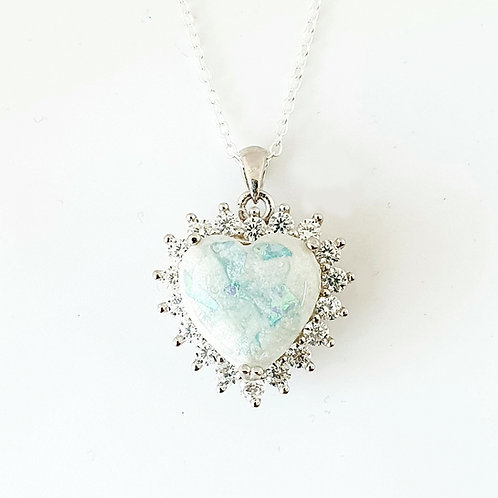The Thea Sparkle Heart Inclusion Pendant