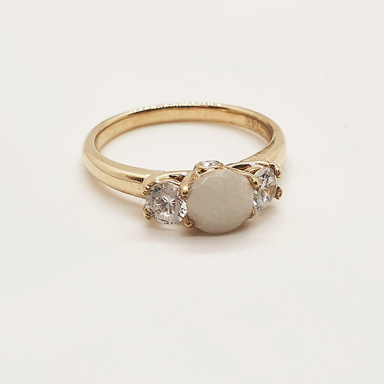 The Gold Birthstone Inclusion Ring (yellow/rose/white)