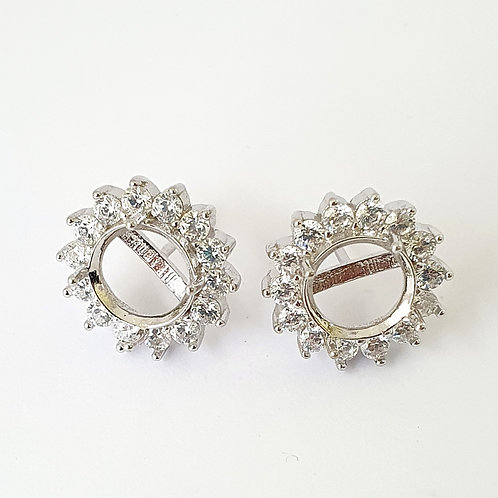 8mm round earrings