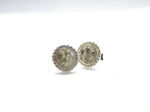 The Beaded Studs Inclusion Earrings