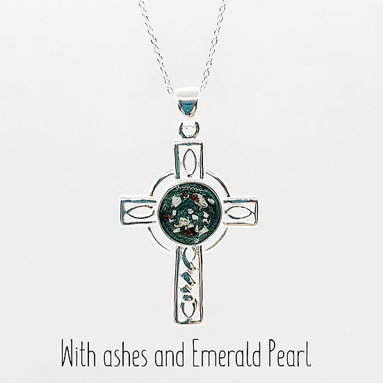 The Colleen Celtic Cross Inclusion Pendant
