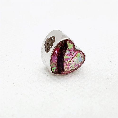 The Sparkle Heart Charm Bracelet Bead