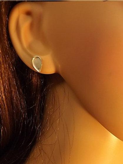 The Dena Teardrop Stud Inclusion Earrings