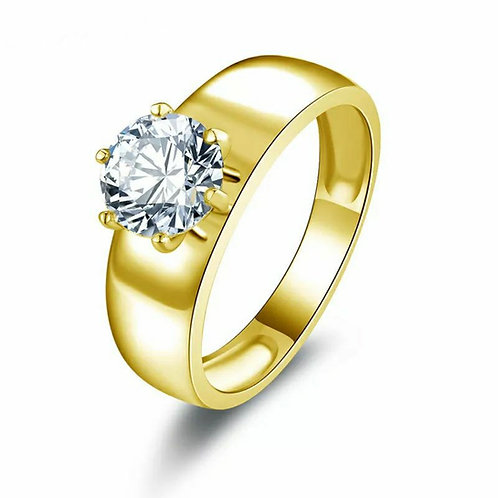 The Golden Band Inclusion Ring (yellow or white gold)