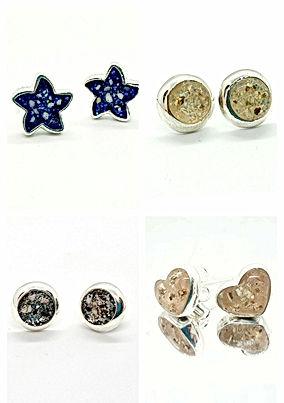 earring for ashes, breastmilk earrings