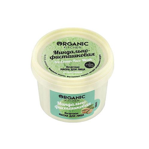 "Organic Kitchen Йогуртовая маска для лица ""Миндально-фисташковая"", 100мл"