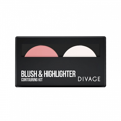 DIVAGE Blush & Highliter Палетка для лица