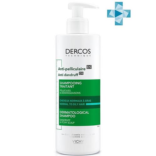VICHY DERCOS Интенсивный шампунь-уход от перхоти для нормальных и жирных волос