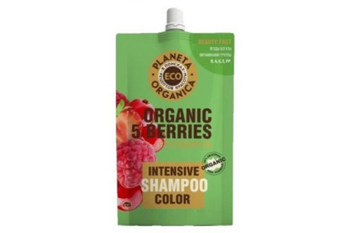 Planeta Organica ECO Шампунь Organic 5 Berries + Phytokeratin для яркости цвета
