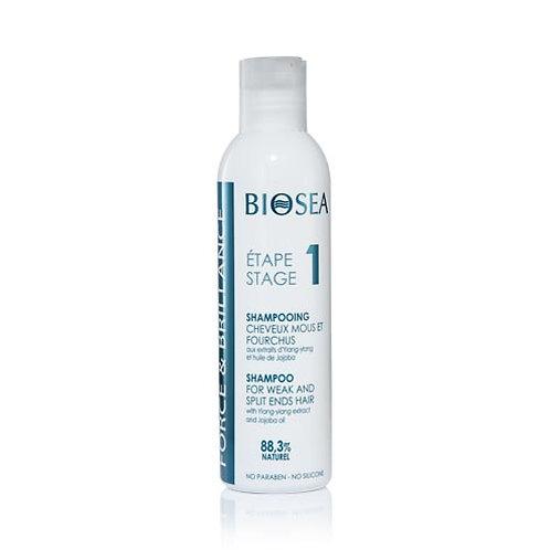 BIOSEA Шампунь для ослабленных и секущихся волос Force and Balance