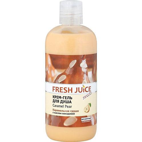 """Fresh Juice Крем-гель для душа """"Карамельная груша"""""""