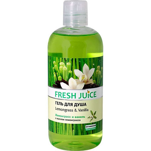 """Fresh Juice Гель для душа """"Лемограс и Ваниль"""""""