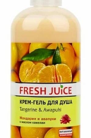 "Fresh Juice Гель для душа ""Мандарин и авапухи"""