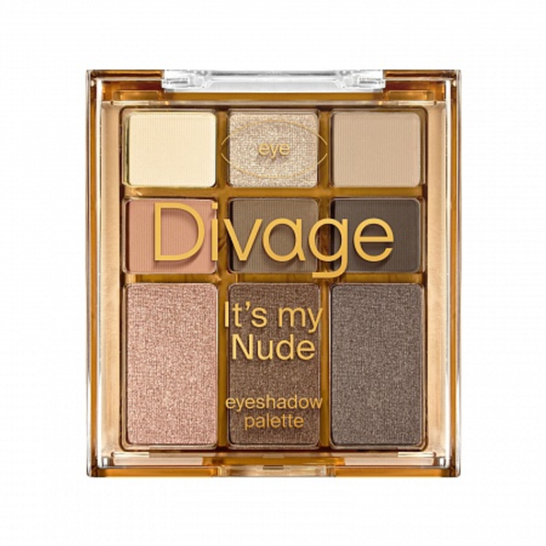 DIVAGE It's My Nude Палетка теней для век