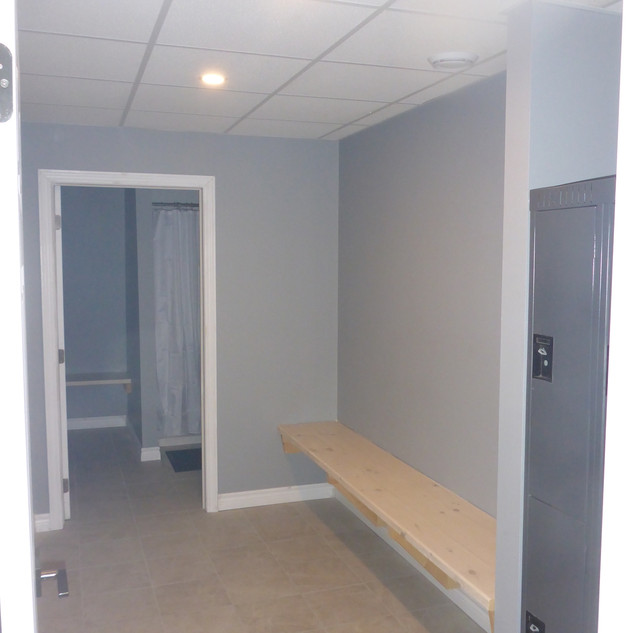 Change room with lockers