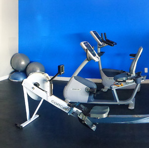 Free weights, stretching area and cardio equipment