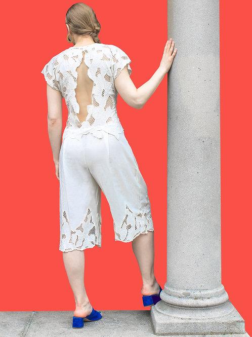 Cream Lace Jumpsuit
