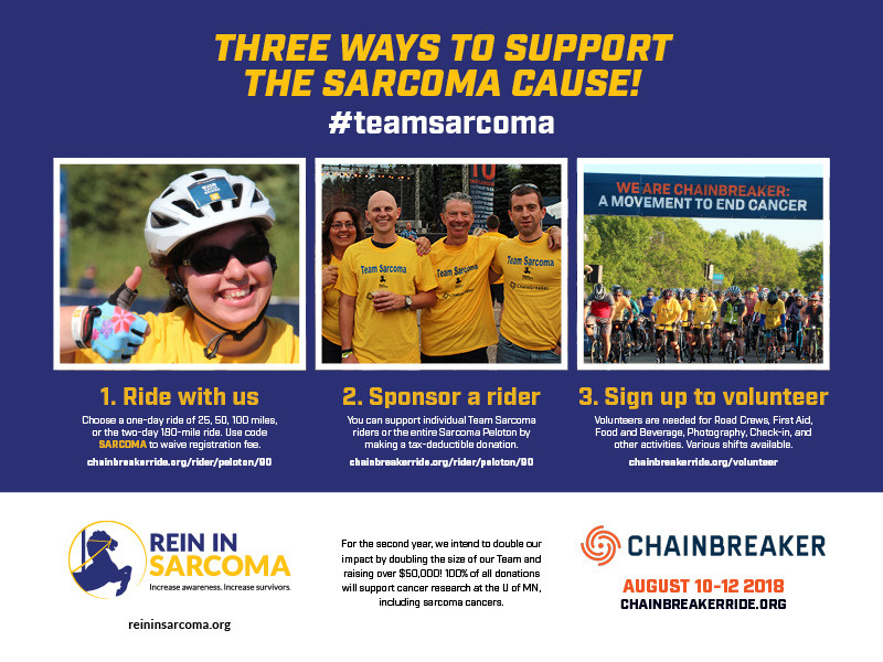 Team Sarcoma Chainbreaker Campaign