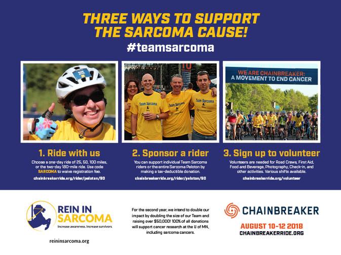 Team Sarcoma Chainbreaker Campaign