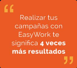 Realiza campañas con Easywork