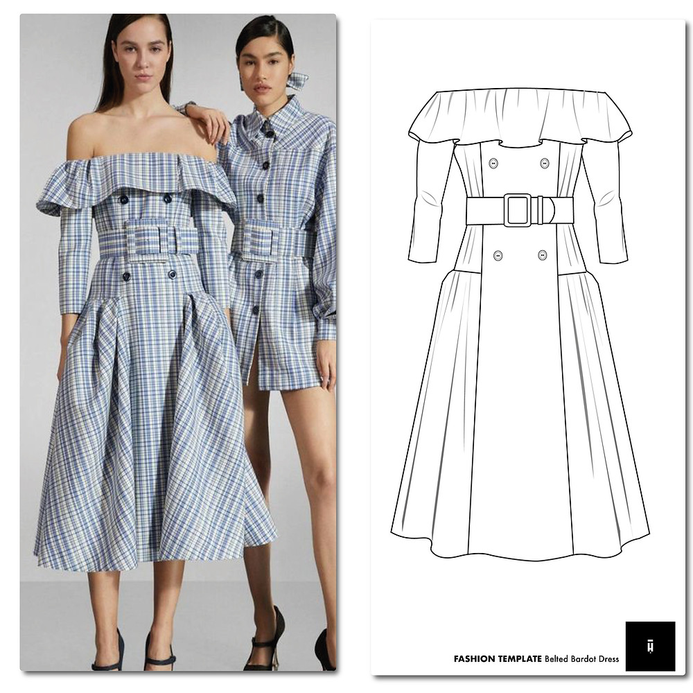 Fashion Flat Sketches Cad Technical Drawings