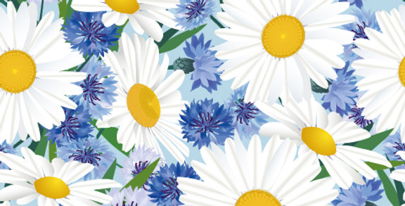 Adobe Illustrator Fashion Print Pattern Seamless vector design trend forecast, daisy floral, fashion trends,
