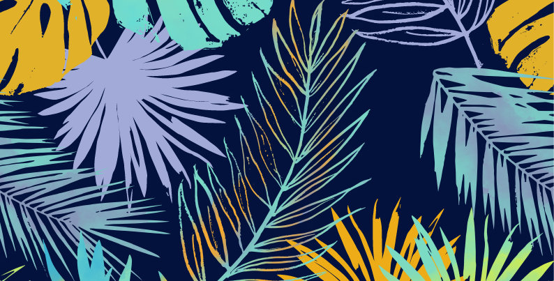Adobe Illustrator Fashion Print Pattern Seamless vector design trend forecast, tropical, fashion trends,